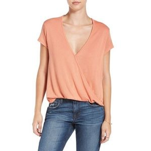 Free People We the Free Surplice Knit Tee S NWT